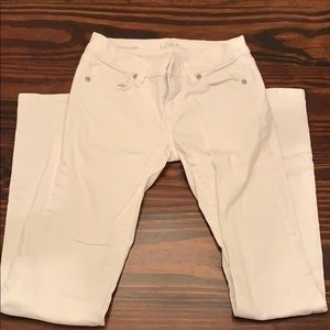 Loft modern straight white pants size 24/00